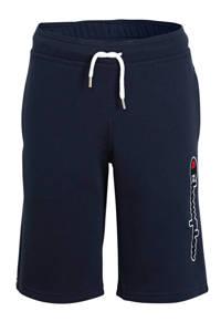 Champion sweatshort met logo donkerblauw, Donkerblauw