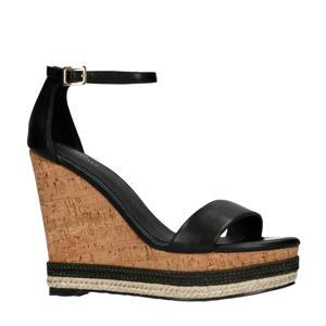 plateau sandalettes zwart