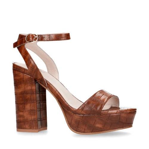 Sacha sandalettes crocoprint bruin