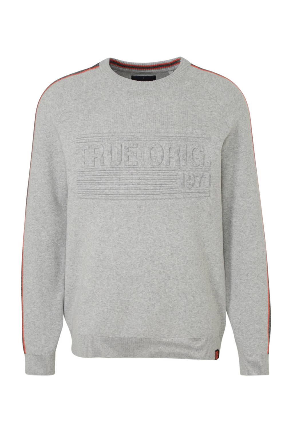 C&A sweater met printopdruk grijs, Grijs