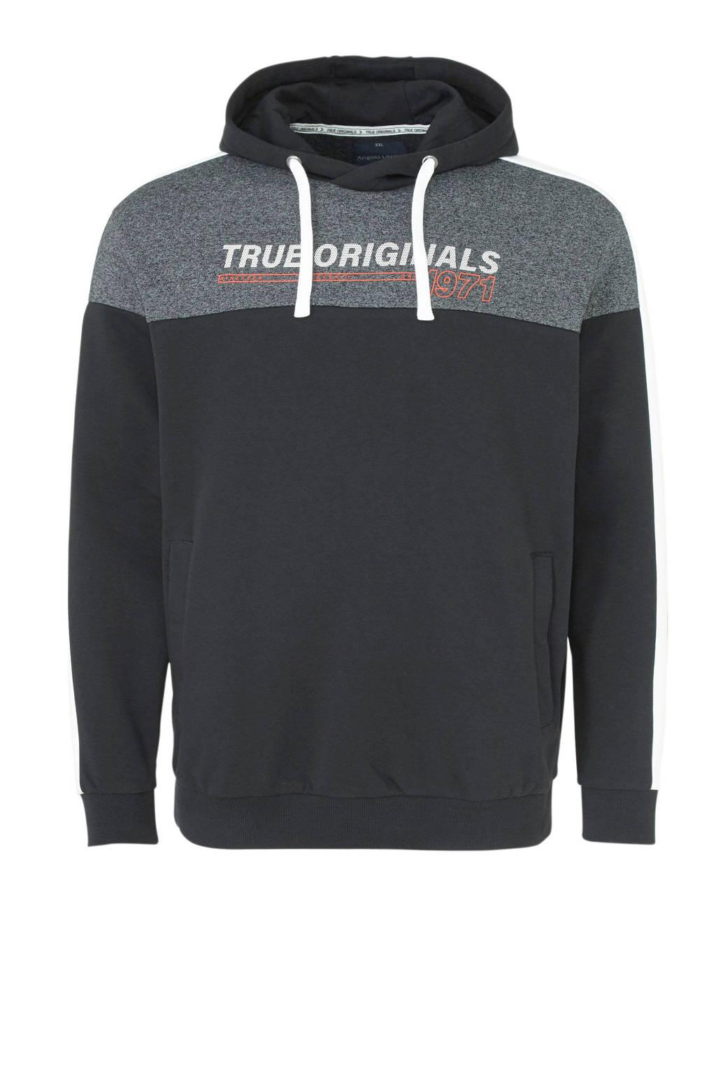 C&A XL Angelo Litrico hoodie met logo zwart, Zwart