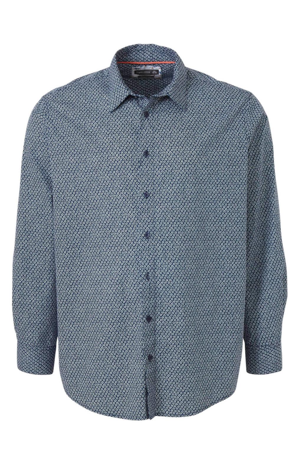 C&A regular fit overhemd met all over print blauw, Blauw