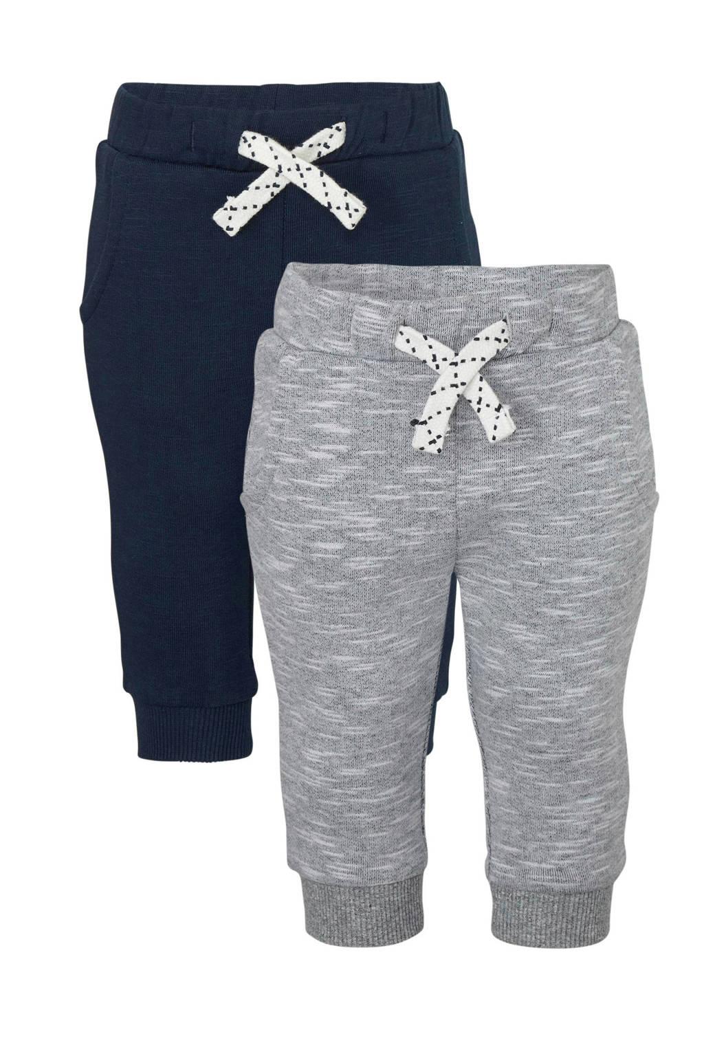 C&A Baby Club   baby joggingbroek grijs/donkerblauw - set van 2, Grijs/donkerblauw
