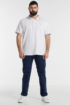 +size regular fit polo wit/rood/blauw