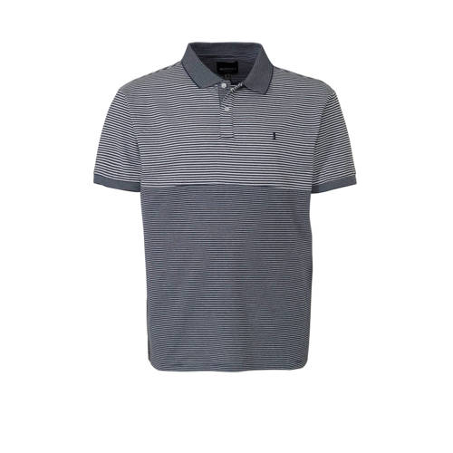 North 56??4 +size regular fit polo met logo grijs