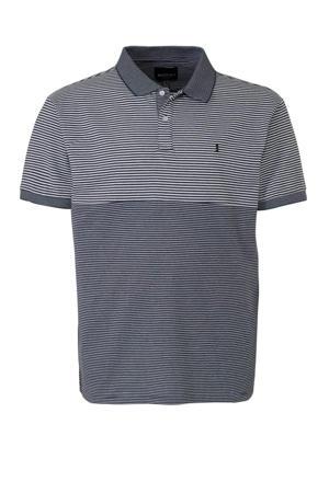 +size regular fit polo met logo grijs