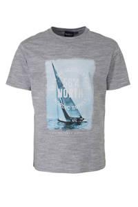 North 56°4 +size T-shirt met printopdruk grijs, Grijs