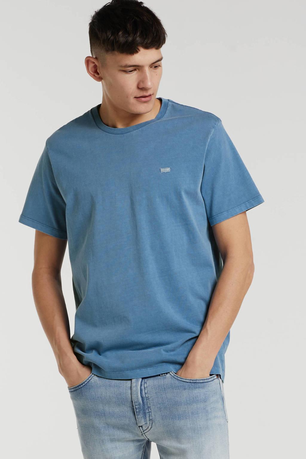 Levi's T-shirt met logo grijsblauw, Grijsblauw