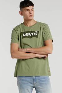 Levi's T-shirt met logo olijfgroen, Olijfgroen