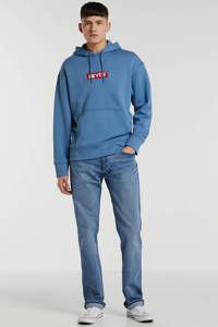 Levi's hoodie relaxed fit met logo blauw, Blauw