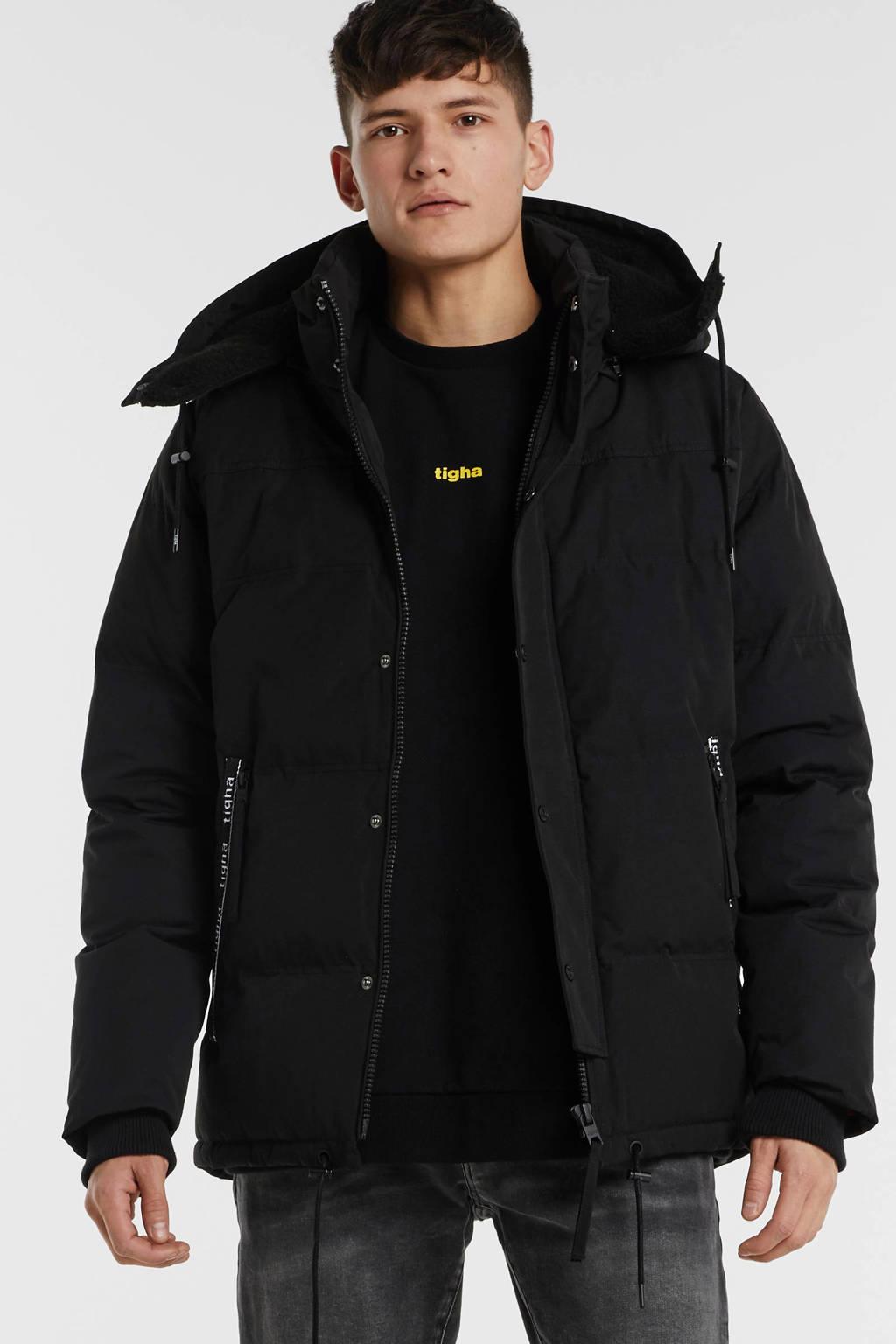 Tigha winterjas zwart, Zwart