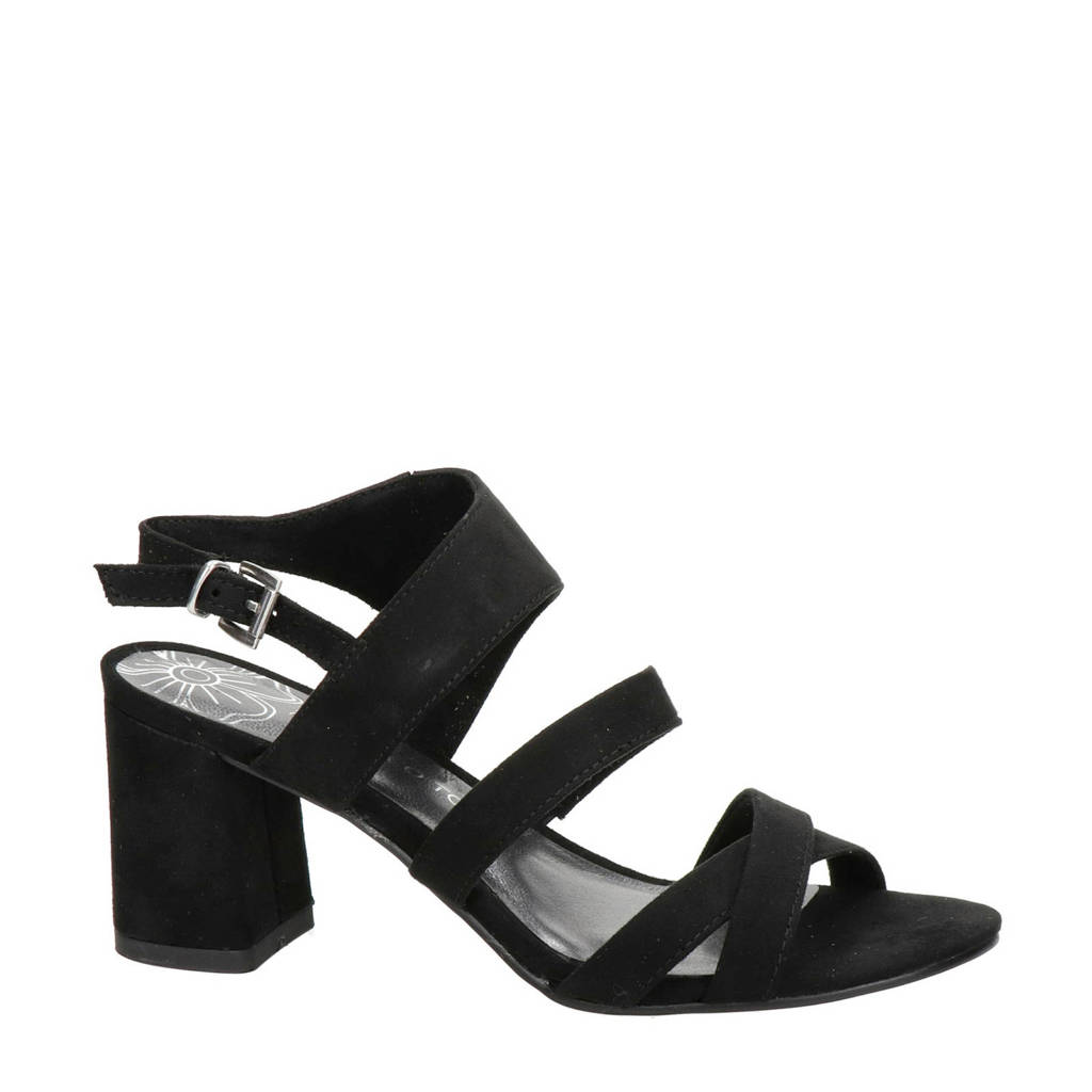 Marco Tozzi   sandalettes zwart, Zwart
