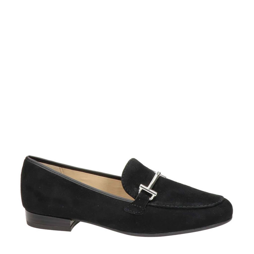 Ara Kent High Soft  suède loafers zwart, Zwart