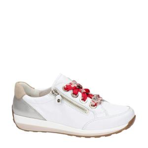 Osaka  leren sneakers wit/goud