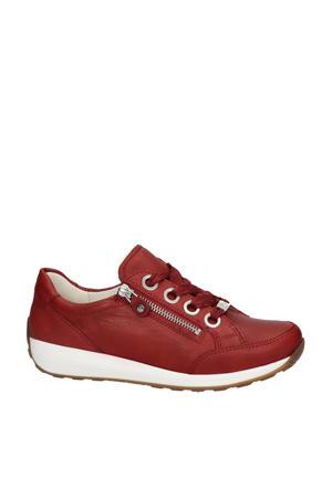 Osaka comfort leren veterschoenen rood