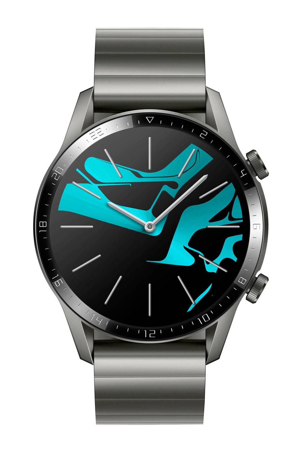 Huawei GT2 smartwatch, Zilver