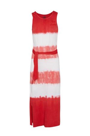 regular fit maxi jurk rood/wit