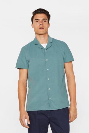 slim fit overhemd grey green