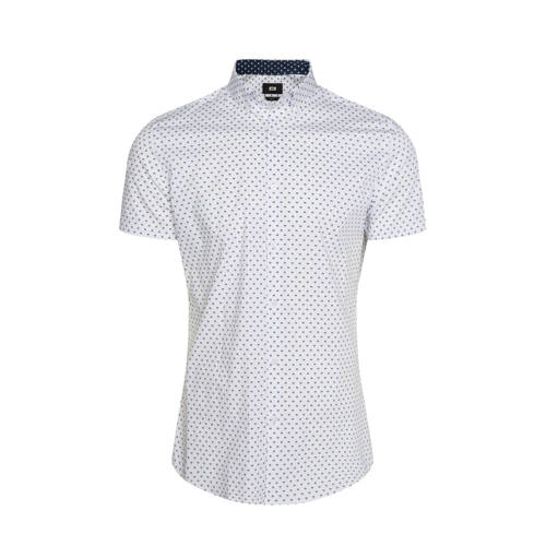 WE Fashion slim fit overhemd met all over print wi