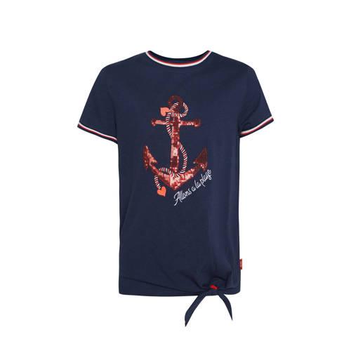 WE Fashion regular fit T-shirt met printopdruk en