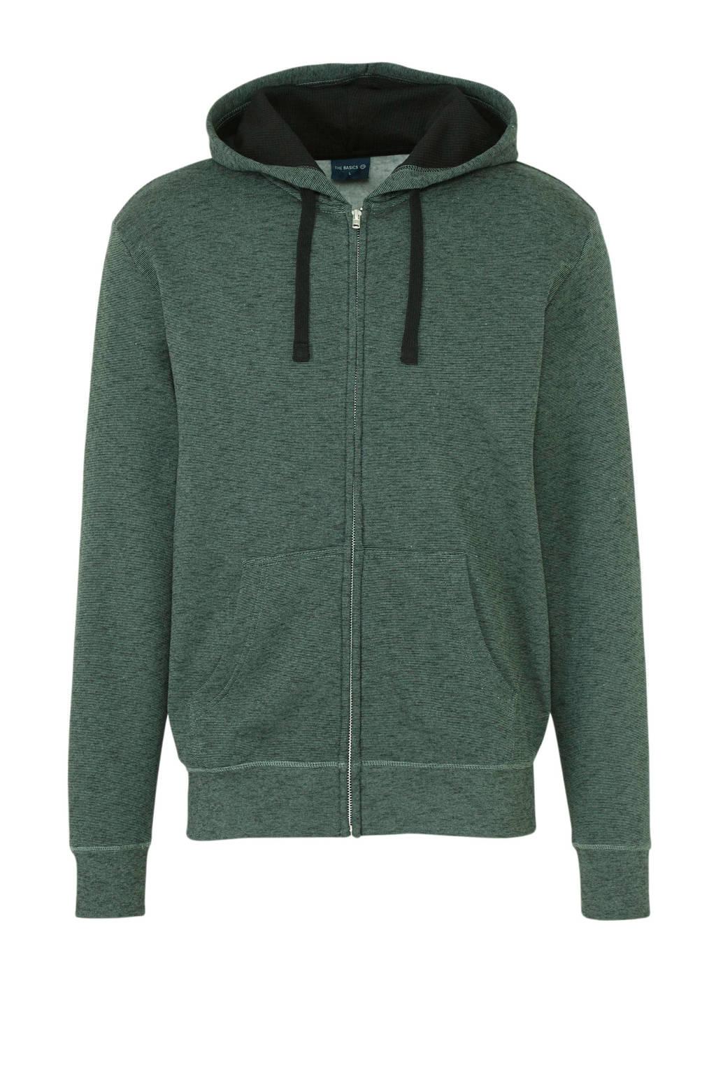C&A Clockhouse gestreepte hoodie groen, Groen