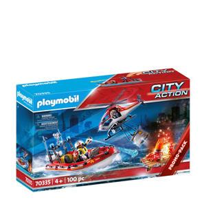 Playmobil City Actio Brandweermissie met helikopter en boot 70335