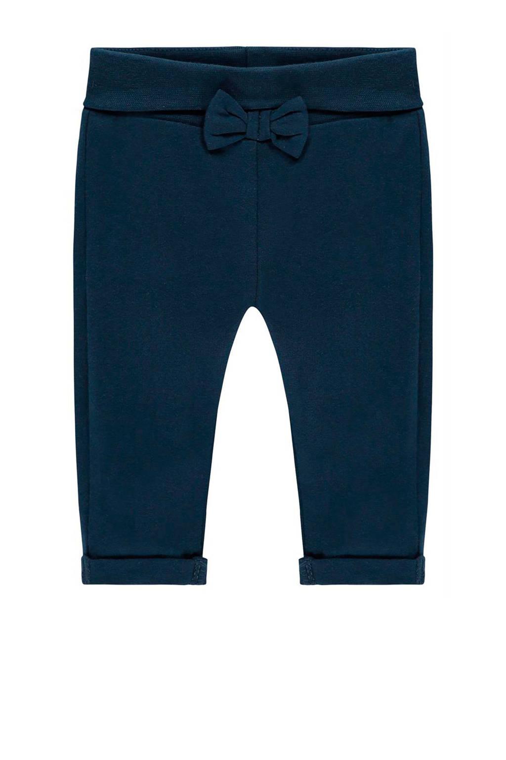 Noppies baby slim fit broek Charlton met biologisch katoen donkerblauw, Donkerblauw