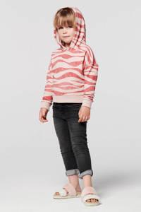 Noppies hoodie Crofton van biologisch katoen lichtroze/donkerroze, Lichtroze/donkerroze