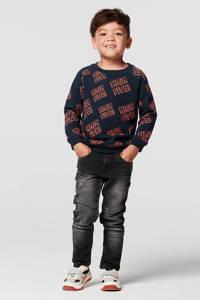 Noppies sweater Jefferson van biologisch katoen donkerblauw/donkerrood, Donkerblauw/donkerrood