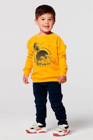 sweater Mesa van biologisch katoen geel/zwart