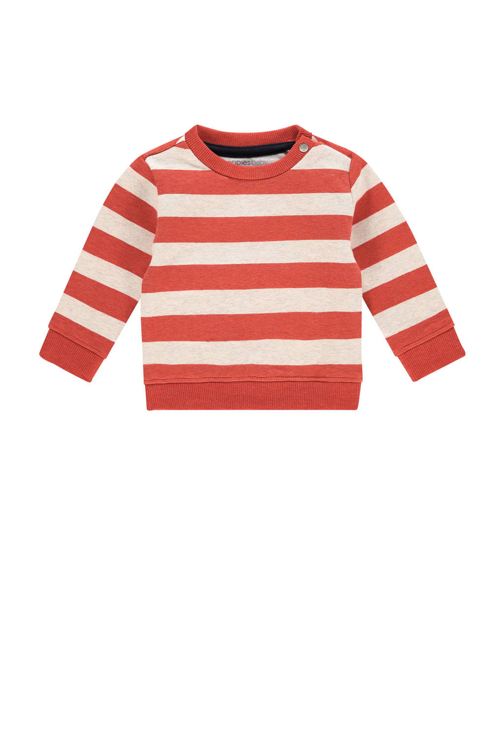 Noppies baby gestreepte sweater Archdale rood/ecru, Rood/ecru