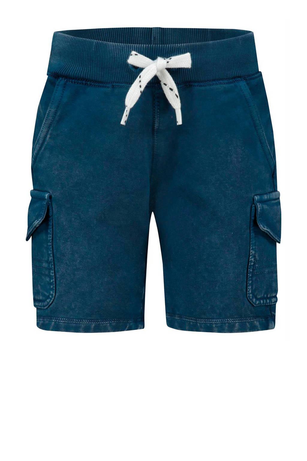 Noppies cargo sweatshort Millersville donkerblauw/wit, Donkerblauw/wit