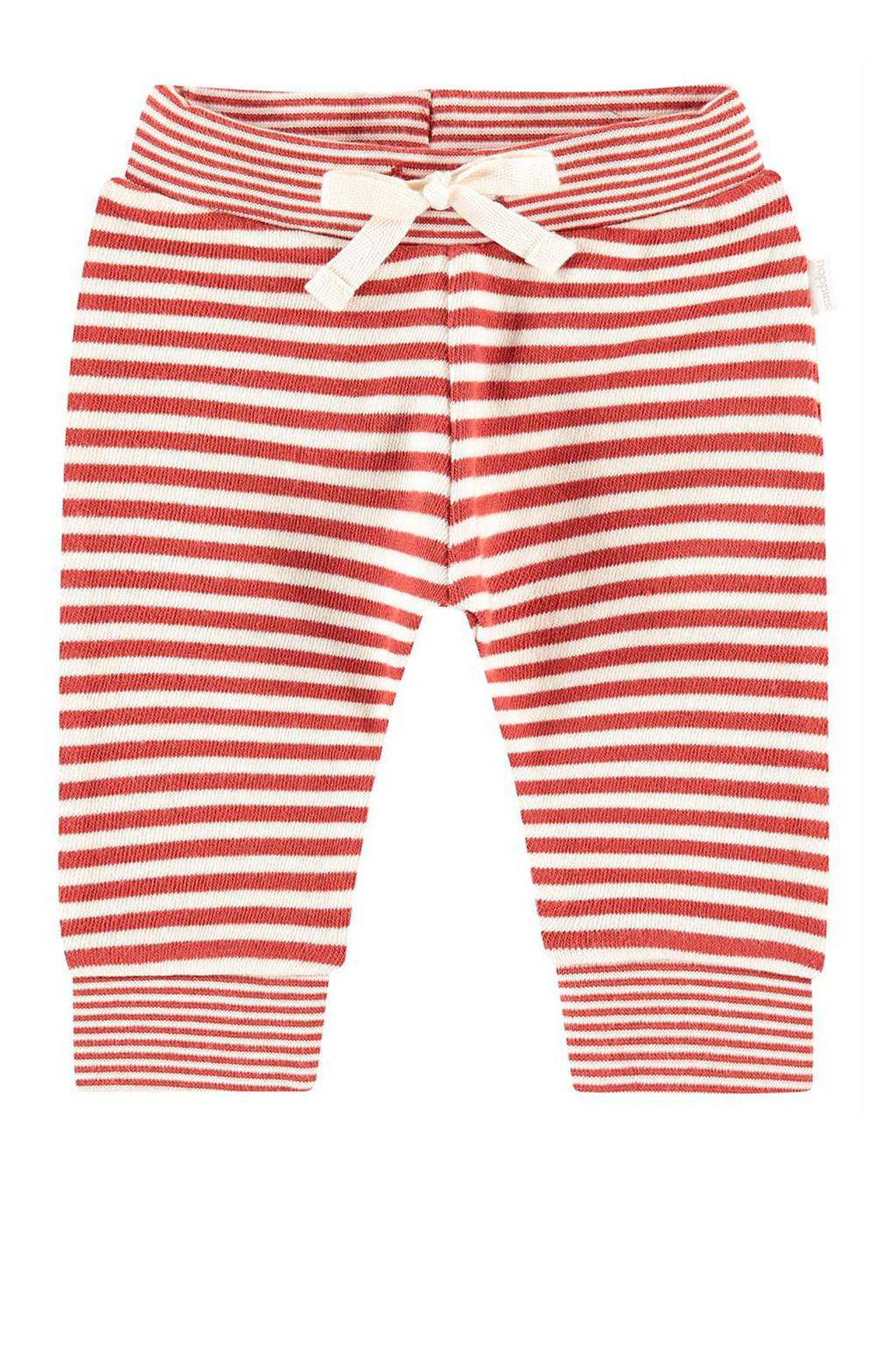 Noppies baby gestreepte broek Ahidud rood/ecru, Rood/ecru