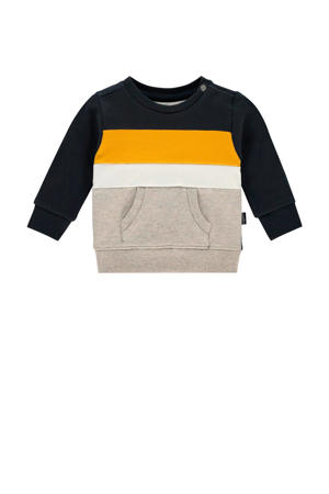 baby sweater Ashland donkerblauw/grijs/geel