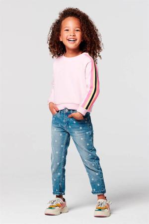 sweater Cohoes lichtroze/geel/zwart