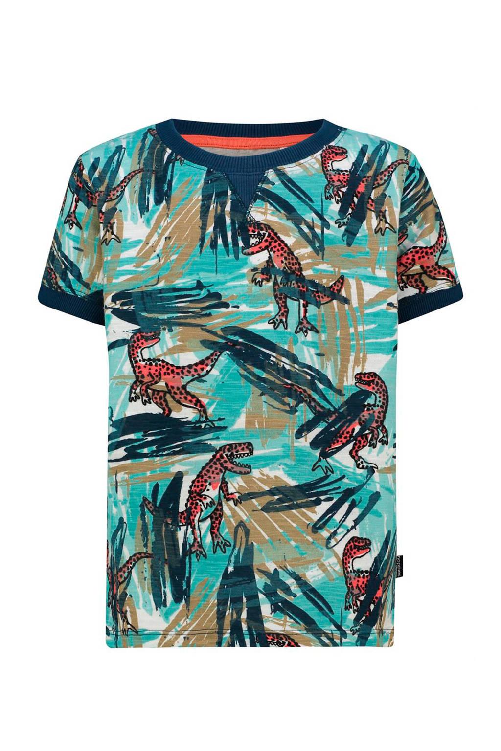 Noppies T-shirt Junction van biologisch katoen donkerblauw/wit/donkerrood, Donkerblauw/wit/donkerrood