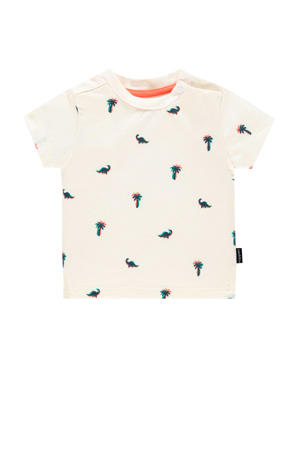 baby T-shirt Atascocita met all over print wit/zwart