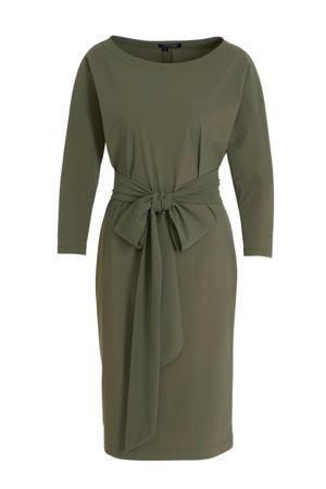 jersey jurk Caroline groen