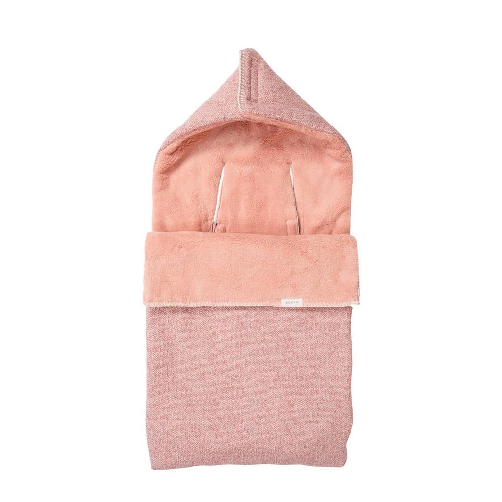 Koeka Vigo teddy voetenzak 3/5 punts Old Pink, old pink/shadow pink