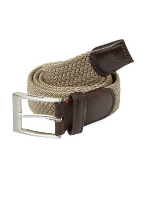 canvas riem beige