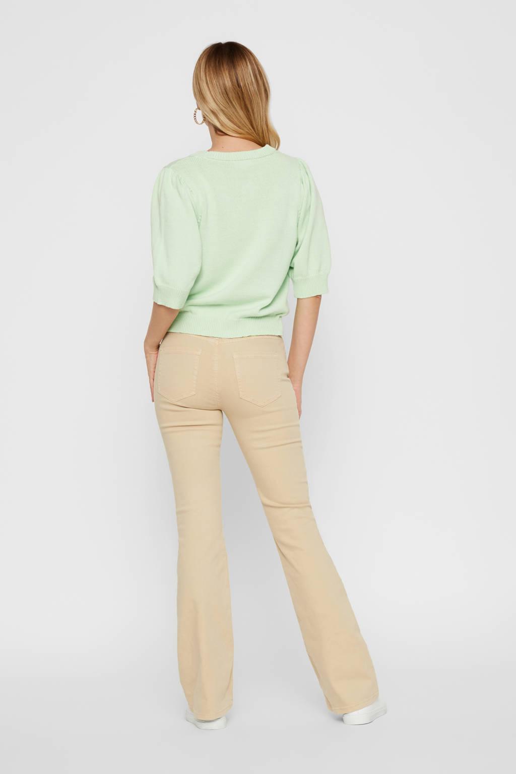 PIECES flared jeans grijs, Beige