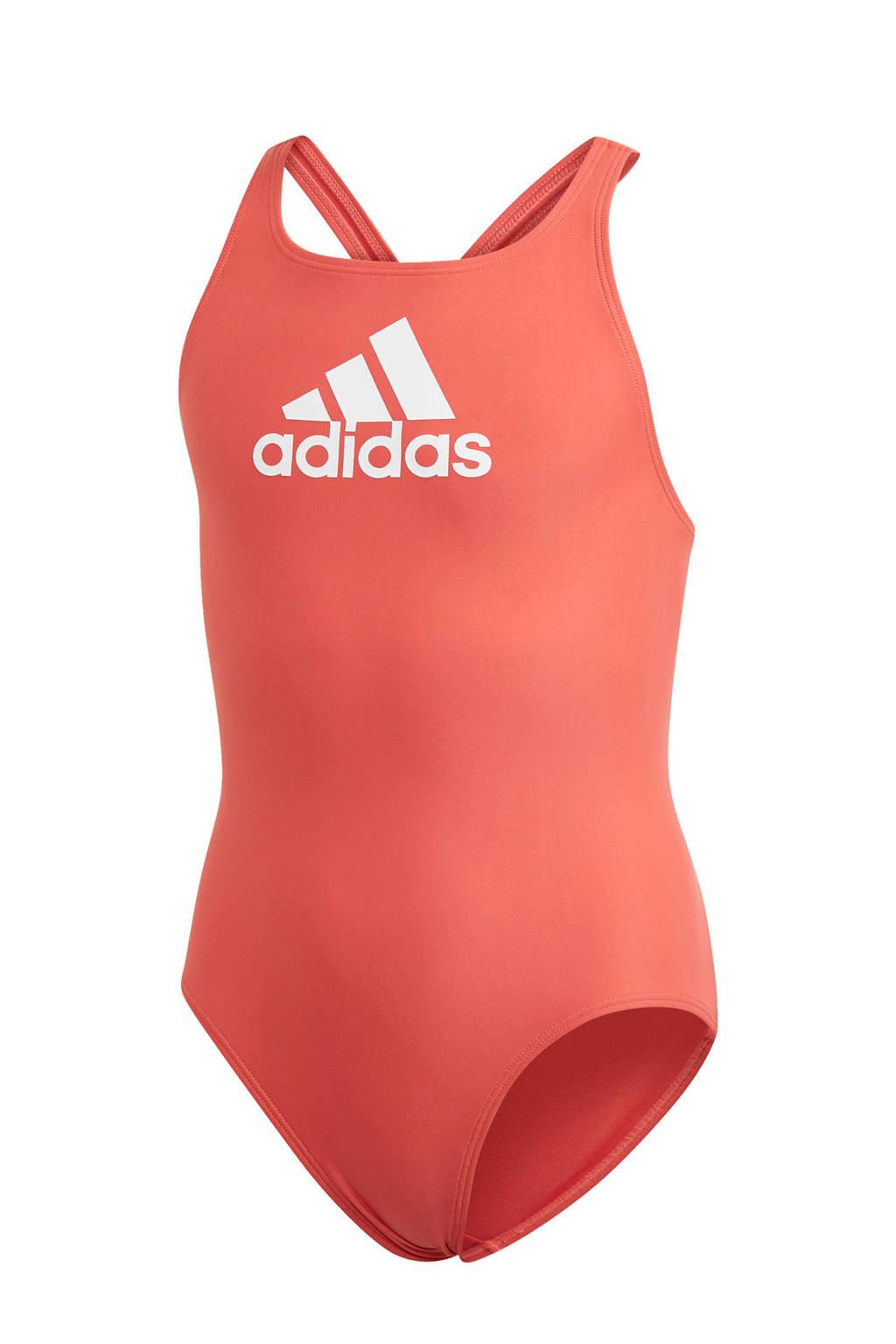 adidas Performance sportbadpak rood, Rood / wit