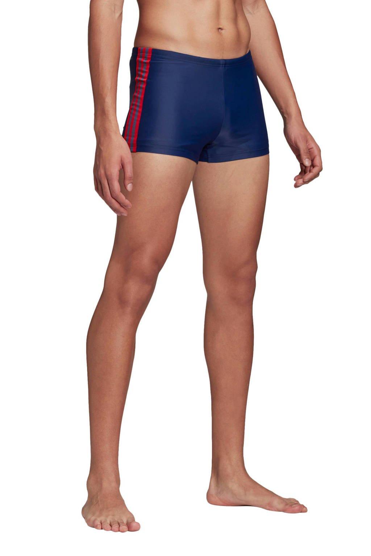 adidas Infinitex zwemboxer 3-Stripes blauw, Blauw / Rood