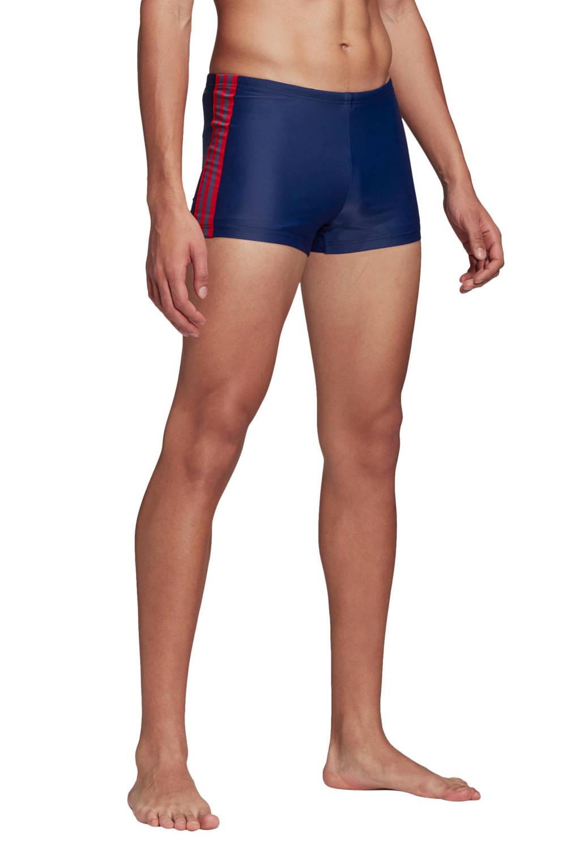 adidas Performance Infinitex zwemboxer 3-Stripes blauw, Blauw / Rood