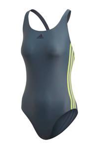 adidas Performance Infinitex sportbadpak 3-stripes grijs, Grijs/geel