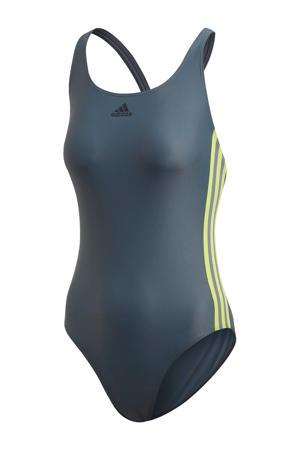 Infinitex sportbadpak 3-stripes grijs