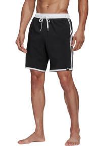 adidas Performance zwemshort 3-Stripes zwart, Zwart / Wit
