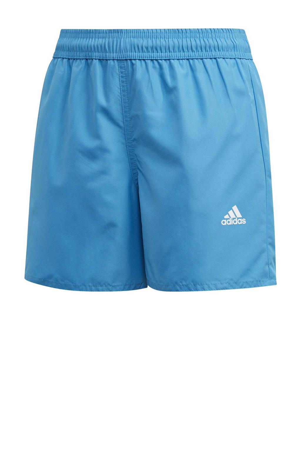 adidas Performance zwemshort Bos blauw, Blauw / Wit