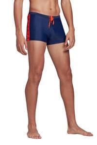 adidas Performance zwemboxer blauw, Blauw / Rood
