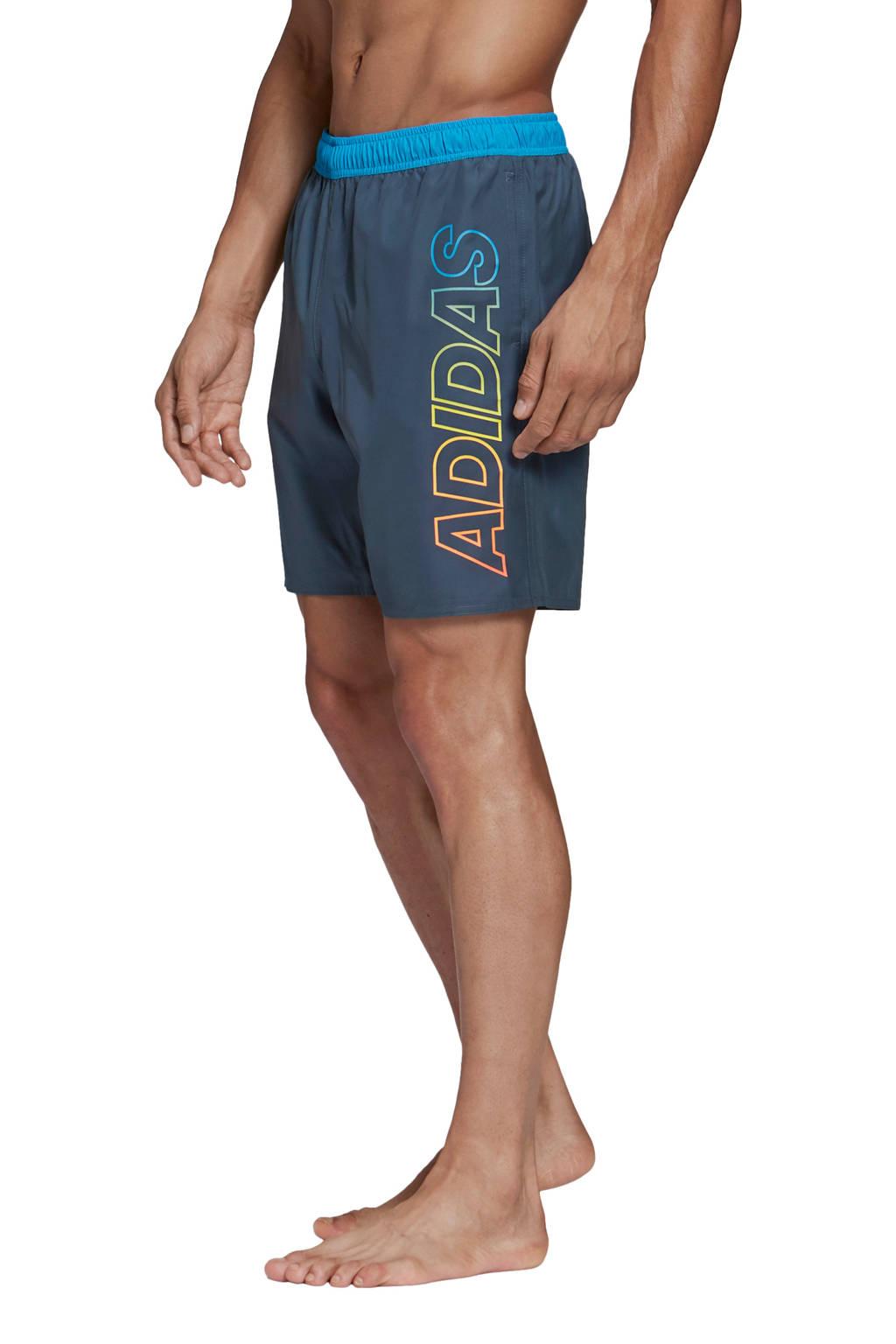 adidas zwemshort blauw, Blauw / oranje / geel